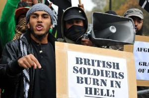 Brit Soldiers Burn in Hell
