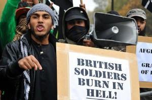 Brit Soldiers Burn in Hell